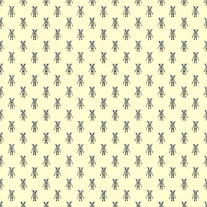 Badger Forest Friends All Over Repeat Pattern on Lemon Yellow