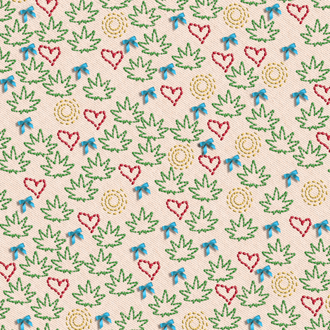 Sweet 420 Needlework fabric by camomoto on Spoonflower - custom fabric