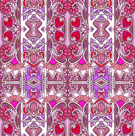 Tower of Flowers fabric by edsel2084 on Spoonflower - custom fabric