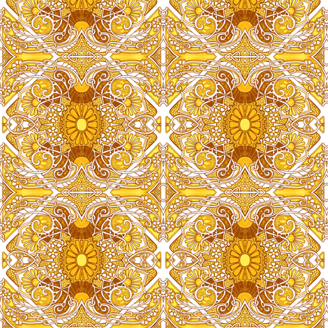 When Everything Is Sunshine fabric by edsel2084 on Spoonflower - custom fabric