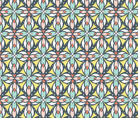Leadlight - Geometric fabric by heatherdutton on Spoonflower - custom fabric