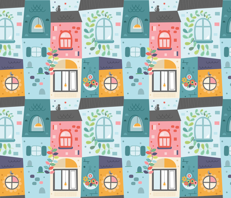 fenetres fabric by la_fabriken on Spoonflower - custom fabric