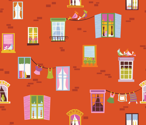 City View fabric by oliveandruby on Spoonflower - custom fabric