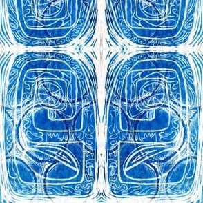 """""""Blue and White Gridded Pods"""""""