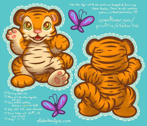 Little Tiger Cut & Sew Plush fabric by elladorine on Spoonflower - custom fabric