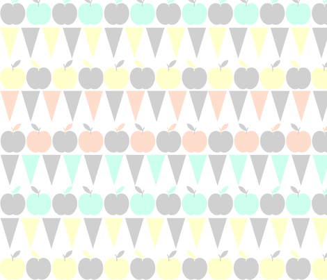 apricot___apples_spoonflower fabric by trixiepop on Spoonflower - custom fabric