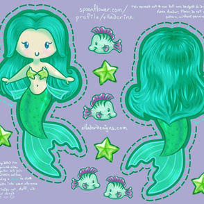 Mermaid Cut & Sew Doll