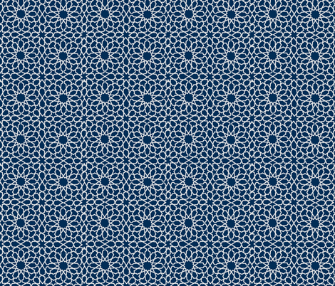 QUILTED STAR-NAVY SMALL fabric by linzwins on Spoonflower - custom fabric