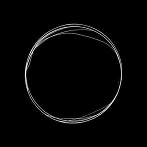 Giant Polka Dot - black