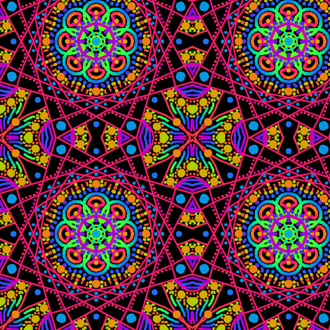 Kaleidoscope Rainbow fabric by tallulahdahling on Spoonflower - custom fabric