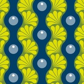 drop splash wavy stripe : firefly