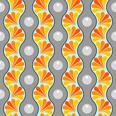 drop splash wavy stripe : time travel fabric by sef on Spoonflower - custom fabric