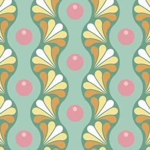drop splash wavy stripe : spring bud