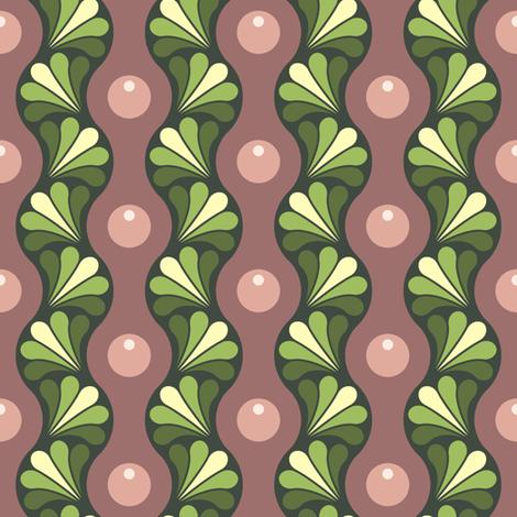 drop splash wavy stripe : oolong warm fabric by sef on Spoonflower - custom fabric