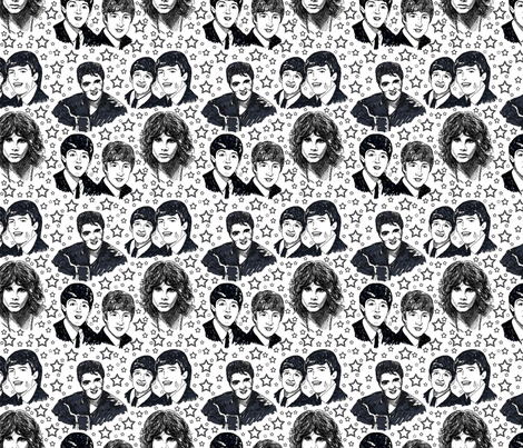 Rock_and_Roll_sketches fabric by leroyj on Spoonflower - custom fabric