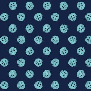 sand dollar - Indigo Turquoise