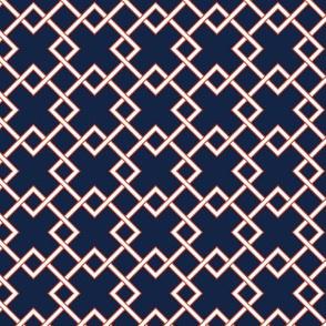 lattice - Indigo Red