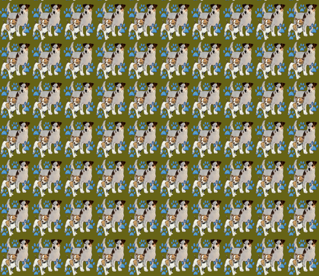 Jack Russell momma and pup fabric by dogdaze_ on Spoonflower - custom fabric