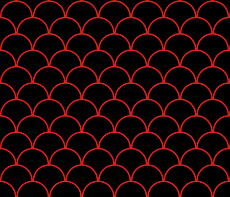 Black and Red fabric by mollywog2 on Spoonflower - custom fabric