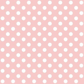 Rose Quartz with Polka White Dots