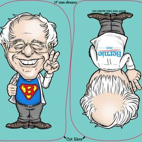 "Bernie Sanders 6"" Bernie Buddy DIY Cloth Doll Panel Bernie 2020!"