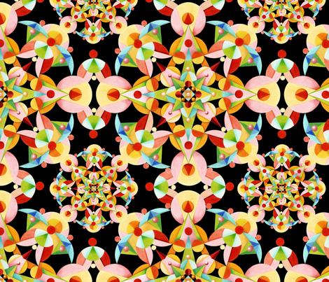 Kaliedoscope Fiesta fabric by patriciasheadesigns on Spoonflower - custom fabric