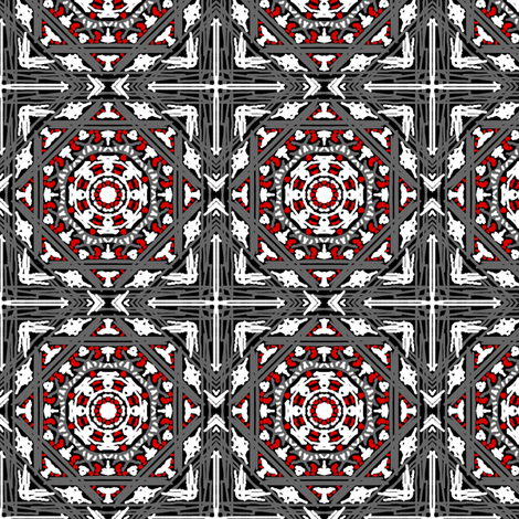 Sketchy with Red fabric by tallulahdahling on Spoonflower - custom fabric