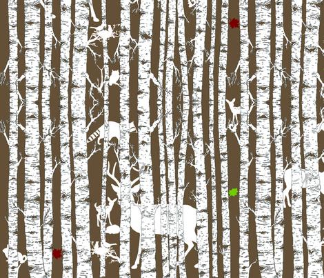 Woodland Wonderland Hide & Seek fabric by tracydb70 on Spoonflower - custom fabric