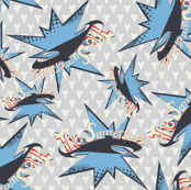 The Summer Shark on grey