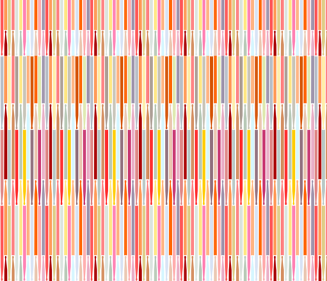 drum_sticks_aligned_multi_colored fabric by contented_studios on Spoonflower - custom fabric
