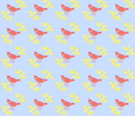 pink_bird fabric by classyandcluttered on Spoonflower - custom fabric