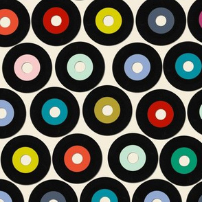 Record Fabric Wallpaper Home Decor Spoonflower