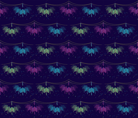 Pinata_with_lights_in_motion_and_exploding fabric by contented_studios on Spoonflower - custom fabric