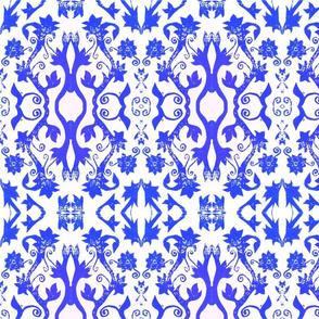 Floral Stamp - Blue