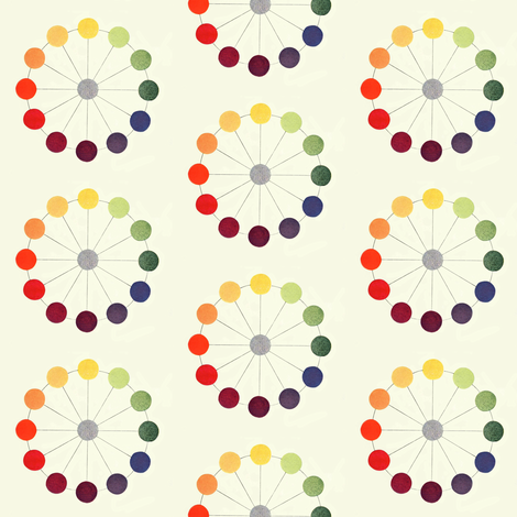 Color Circle Chart fabric by gumbogirl on Spoonflower - custom fabric