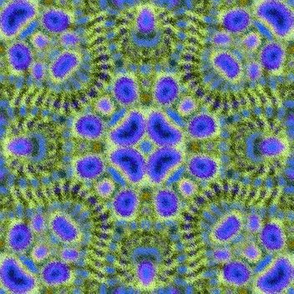 Fuzzy Blue Monster Kaleidoscope