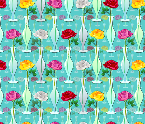 single roses fabric by hannafate on Spoonflower - custom fabric