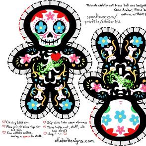 Cute Dia de los Muertos Cut & Sew Doll