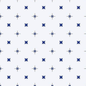 Tiny Blue and Grey Stars on Pale Blue