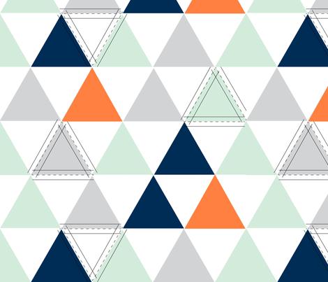 Orange Hamptons Triangle fabric by tycdesignco on Spoonflower - custom fabric