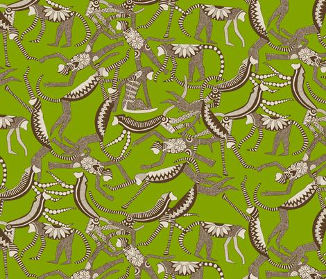 monkey lime fabric by scrummy on Spoonflower - custom fabric