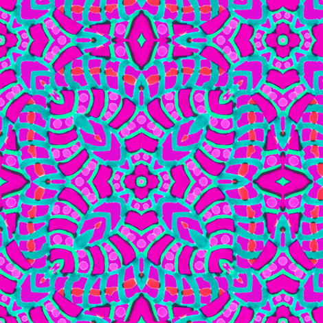Pink Batik Kaleidoscope Stripes fabric by eclectic_house on Spoonflower - custom fabric