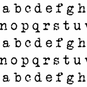 Typewriter Alphabet - Black on White