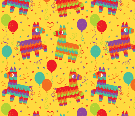 pequenas_pinatas fabric by josie_tortoise on Spoonflower - custom fabric