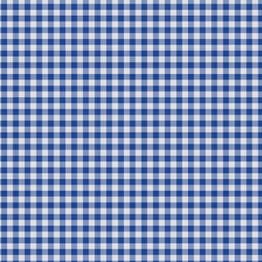 Dark Blue Gingham Check