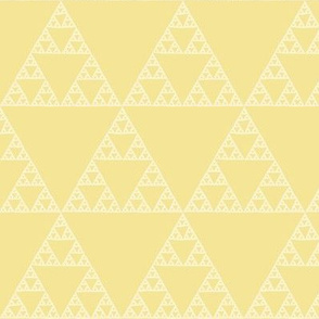 Sierpinski triangle on yellow
