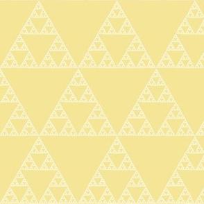 Sierpinski triangle on yellow