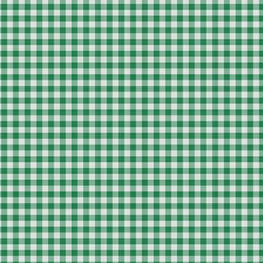 Dark Green Gingham Check