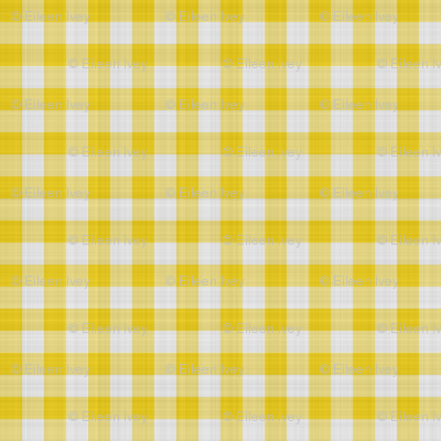 Yellow Gingham Check