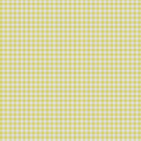 Yellow Gingham Check fabric by mollywog2 on Spoonflower - custom fabric